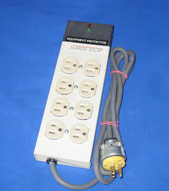 Surge Stop - Eight Outlet Equipment Protector